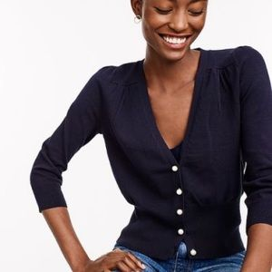 NWT J.Crew fitted cardigan, navy